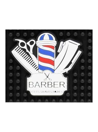 Термоковрик парикмахерский Barber для плойки, утюга резиновый (30*15 см)