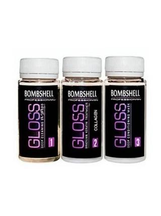 Набор кератина для волос Bombshell Gloss Collagen