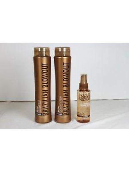 Набір Brazilian Blowout Volume для домашнього догляду за волоссям (шампунь + кондиціонер + спрей-блиск)