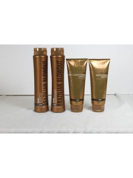 Набор Brazilian Blowout Volume для домашнего ухода за волосами (шампунь + маска + кондиционер + сыворотка)