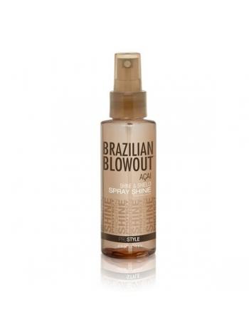 Защитный спрей Brazilian Blowout Shine Spray Solution для блеска волос