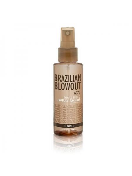 Захисний спрей-блиск Brazilian Blowout Shine Spray Solution для волосся
