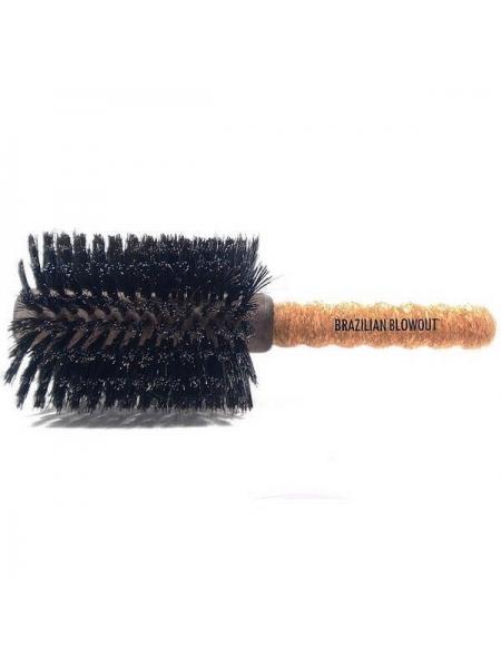 Браш Brazilian Blowout Round Boar Bristle Brush для волосся з натуральною щетиною
