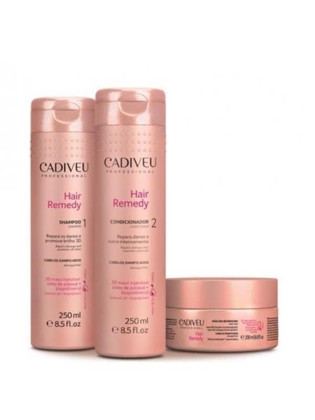 Домашній набір Cadiveu Hair Remedy Home Care (шампунь, кондиціонер, маска)