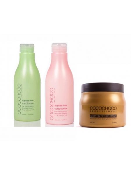 Набір для домашнього догляду Cocochoco (шампунь, кондиціонер, маска)