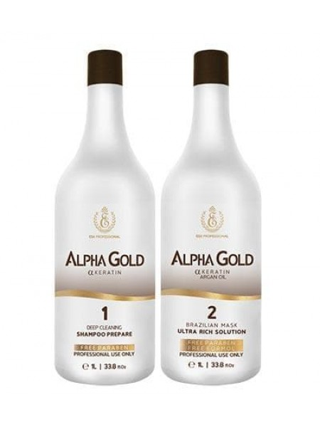 Набор нанопластики для волос Alpha Gold ESK Professional