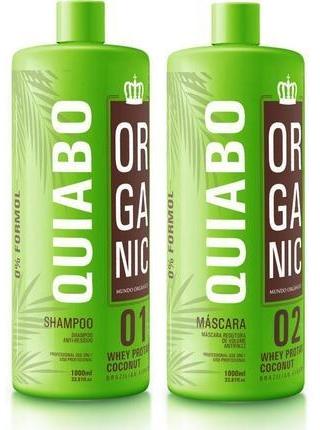 Набір Quiabo Organic для кератинового вирівнювання