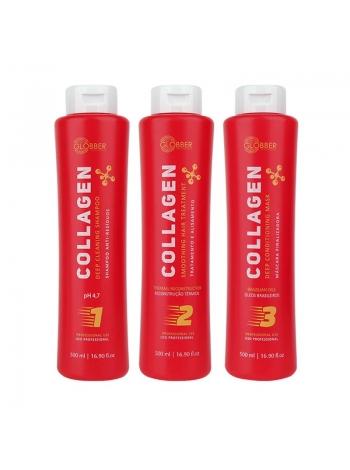 Набір кератину для волосся Globber Collagen