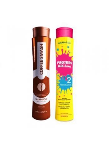 Набор кератина для волос Happy Hair Protein Mix Shine