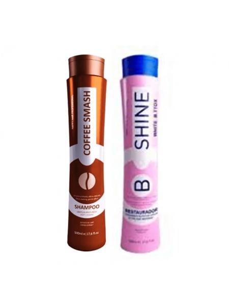 Набір ботоксу для волосся Happy Hair B.Shine Restorer White