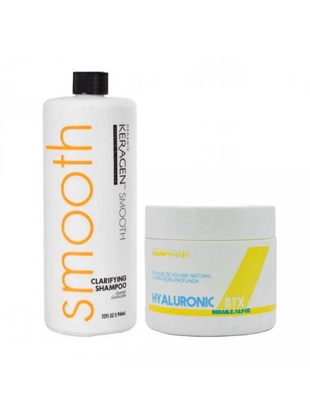 Набір ботоксу для волосся Happy Hair Hyaluronic BTX