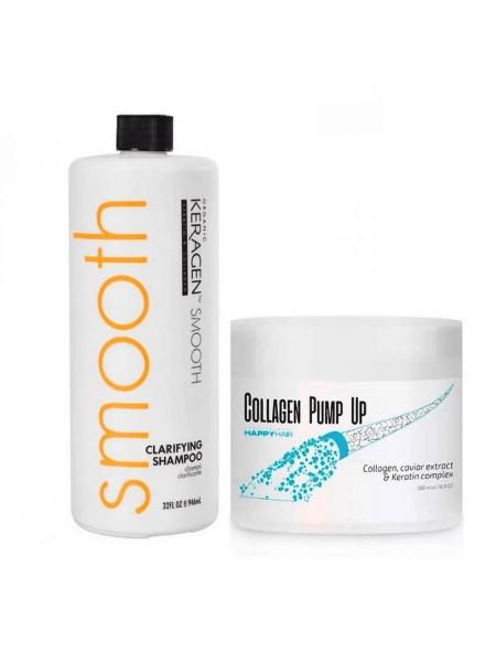 Набір колагену для волосся Happy Hair BTX Collagen Pump UP