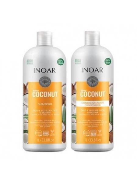 Набір Inoar Bombar Coconut Duo Безсульфатний шампунь та кондиціонер