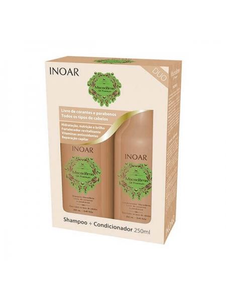 "Набір ""шампунь + кондиціонер"" Duo Inoar Macadamia Care для домашнього догляду"