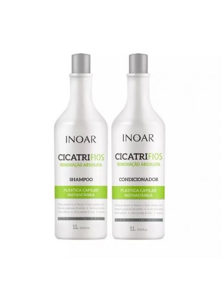 Набір Inoar Cicatrifios Duo шампунь + кондиціонер