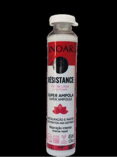 Ампульний ботокс Inoar Resistance Flor de Lotus для капілярного відновлення волосся (45 мл)