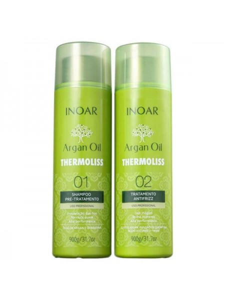 Набор Kit Inoar Argan Oil Thermoliss для кератинового выпрямления