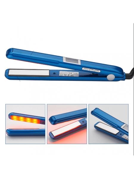 Інфрачервона ультразвукова прасочка для відновлення і лікування волосся (синя)