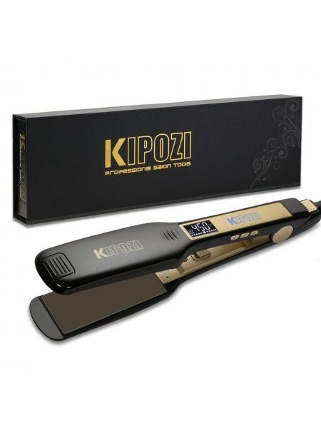 Професійна прасочка Kipozi для кератинового випрямлення волосся c титановими пластинами і дисплеєм