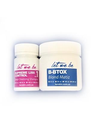 Набор ботокса для волос Let Me Be B-BTOX Blond Matiz