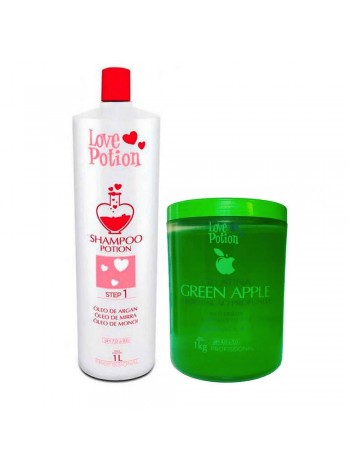 Набор коллагена Love Potion Gelatina Green Apple