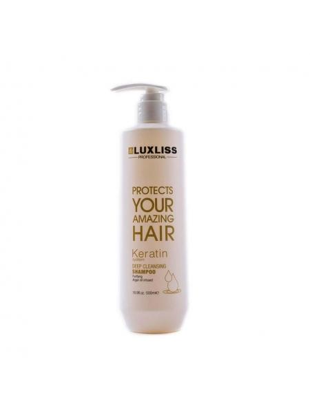 Шампунь глубокой очистки Luxliss Keratin Deep Cleaning Shampoo