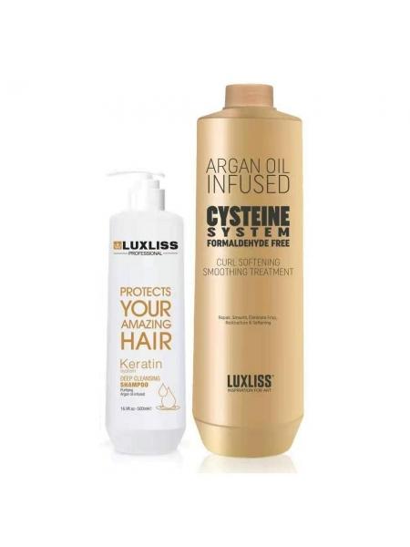 Набір кератина для волосся Luxliss Cysteine Treatment Formaldehyde Free (без формальдегіду)