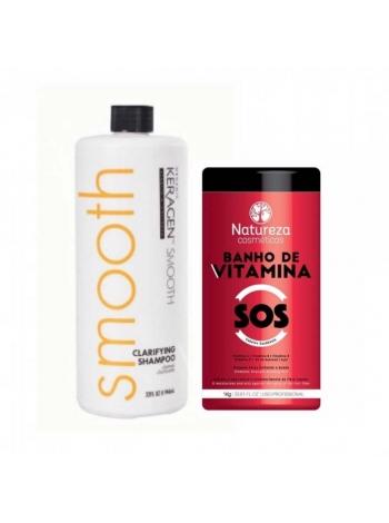 Набор ботокса для восстановления волос NATUREZA SOS Banho de VITAMINA