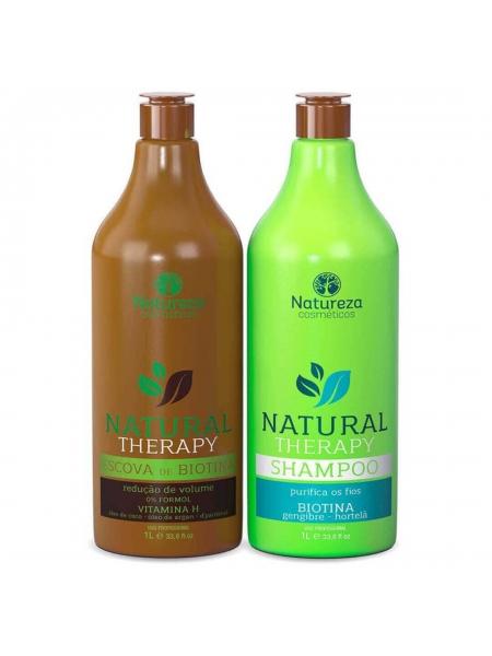 Набір нанопластики Natureza Natural Therapy Escova de Biotina