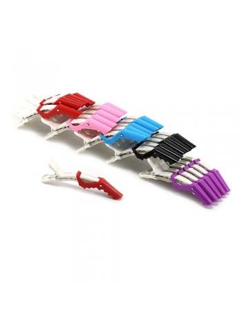 Зажимы-крокодилы для волос пластиковые (упаковка 5 шт)