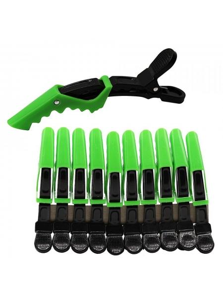 Зажим-крокодил для волос пластиковый (упаковка 10 шт)