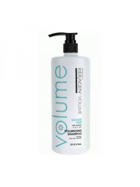 Безсульфатный шампунь Organic Keragen Volumizing Shampoo для объёма волос