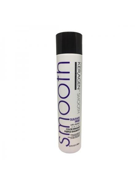 Шампунь с антижелтым пигментом Organic Keragen Color Enhance Purple Shampoo для окрашенных волос и блонда