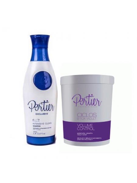 Набор ботокса для волос Portier Ciclos Violet B-TOX Маsk