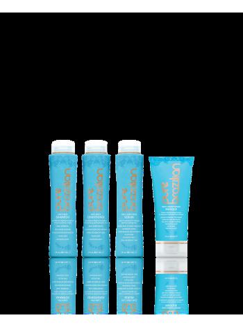 Міні-набір Pure Brazilian Travel Kit (шампунь, кондиціонер, сироватка, маска) для домашнього догляду