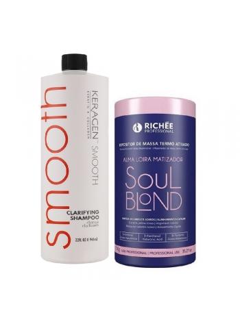 Набор ботокса для волос Richee Soul Blond