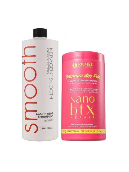 Набор холодного ботокса для волос Richee Nano Btx Repair Desmaio dos Fios