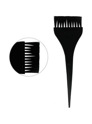 Кисть для фарбування волосся широка чорна