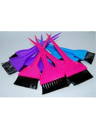 Кисть для фарбування волосся широка кольорова